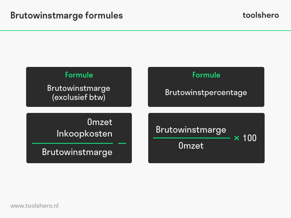 Brutowinstmarge rekenformule - toolshero